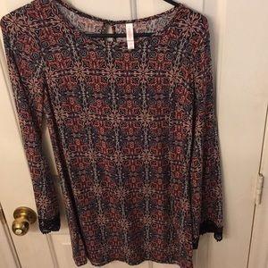 Boho blouse by xhilaration size S/P